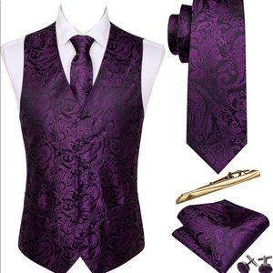 Men's Silk Waistcoat Set